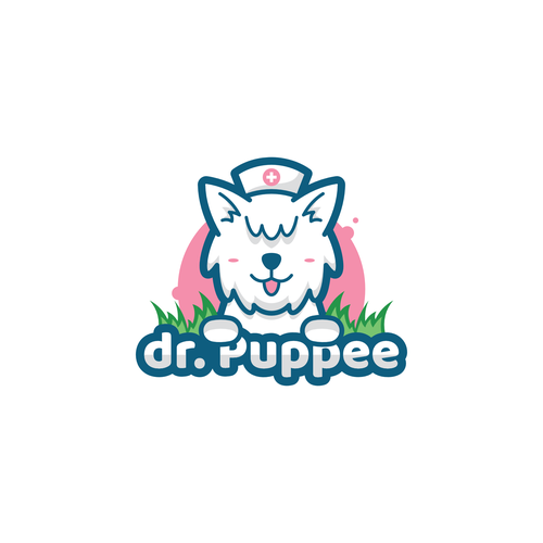 Puppy logo with the title 'Puppy logo for pee mat products'