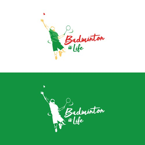 Squash logo with the title 'Logo concept for a badminton brand'