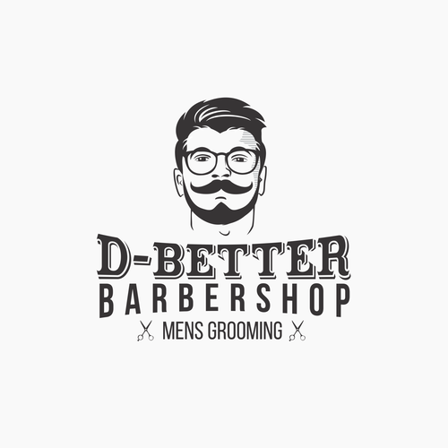 Mustache logo with the title 'Logo for Modern Barbershop'