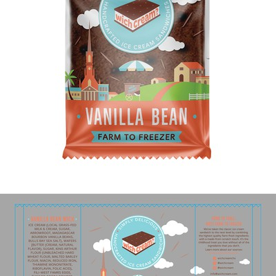 Packaging design for ice cream sandwiches