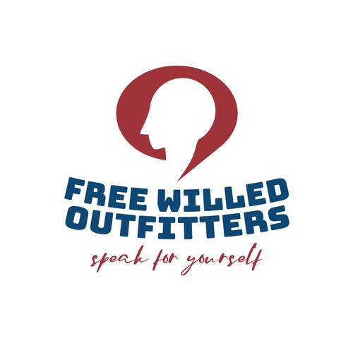 Speak logo with the title 'Free willed outfitters'