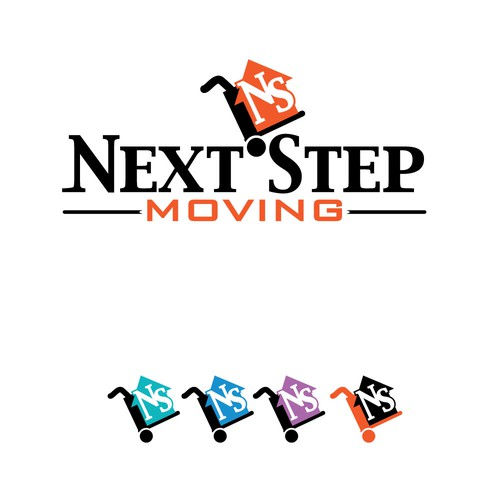 Moving company logo with the title 'New moving company with awesome app needs a kick ass logo!'