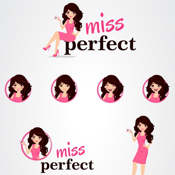 Woman design with the title 'Miss Perfect '