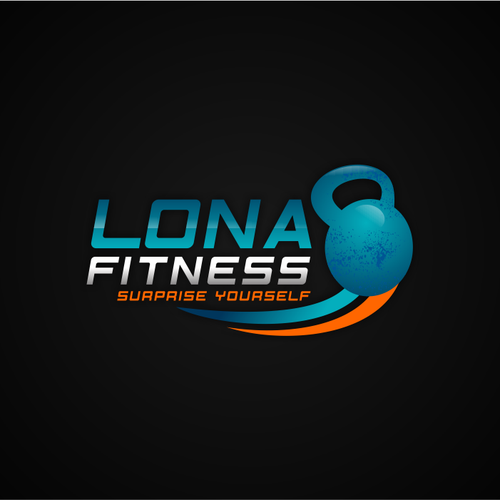 Fit logo with the title 'Logo Design For Lona Fitness'