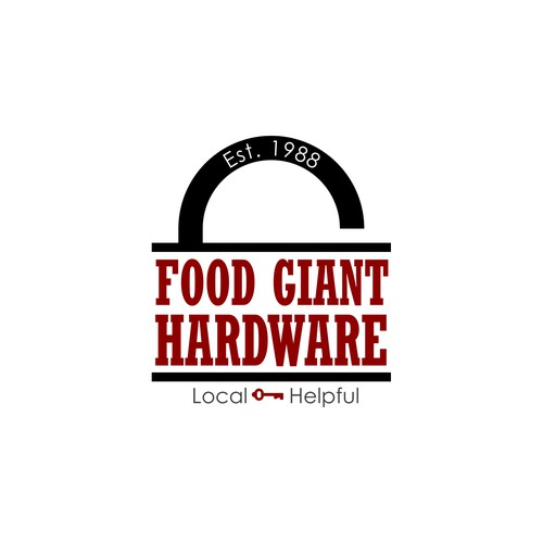 Hardware logo with the title 'Bold logo concept for a small town hardware store'