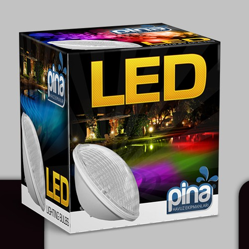 Trendy packaging with the title 'Led box'