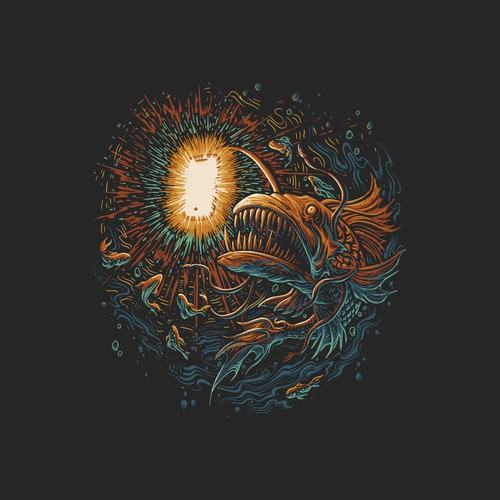 Z design with the title 'angler fish-khimyra'