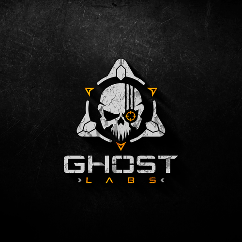 Skull logo with the title 'Logo design for Ghost Labs'