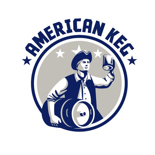 Patriot design with the title 'American Keg Logo'