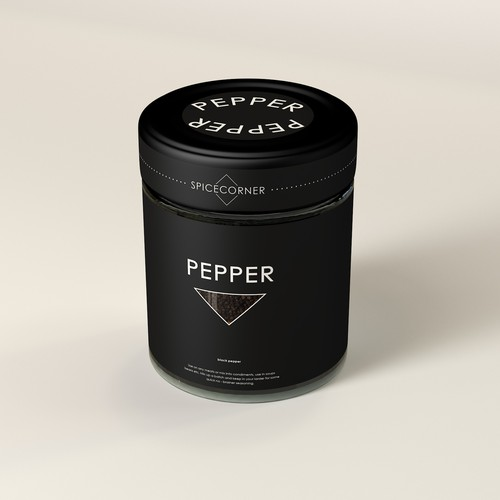Spice label with the title 'PEPPER '