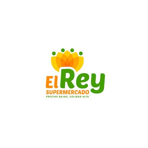 Supermarket design with the title 'El Rey logo exploration'