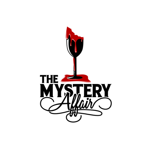 Blood pressure logo with the title 'Design for murder mystery events company'