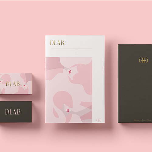 Bauhaus design with the title 'Unique branding designs for DLAB'