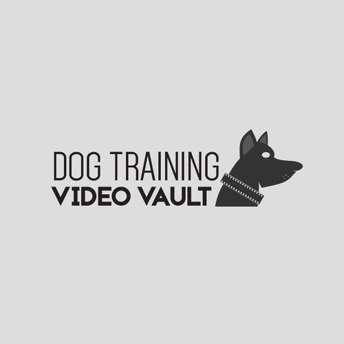 Vault logo with the title 'Logo For Online Dog Training Company'