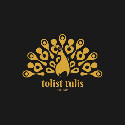 Batik design with the title 'tolist tulis logo'