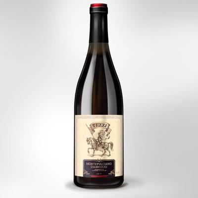 Label Design for Italian wine Montepulciano D'Abruzzo