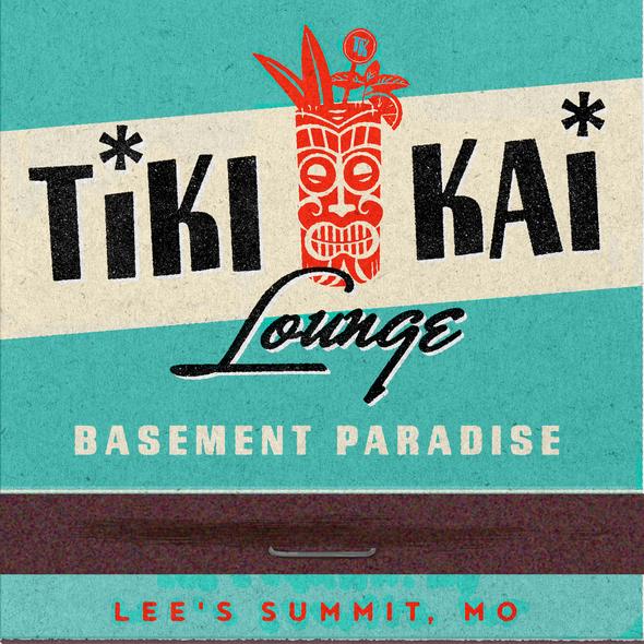 Tiki design with the title 'Tiki Kai Lounge logo'