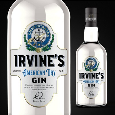 IRVINE'S American Dry Gin Label