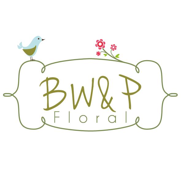 Border design with the title 'cute bird - florist logo'