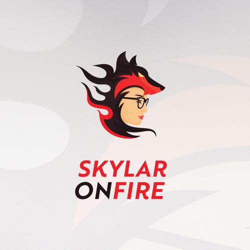 YouTube logo with the title 'Skylar on Fire Mascot'