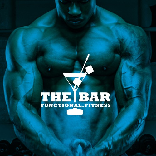 Barbell logo with the title 'Logo for The Bar'