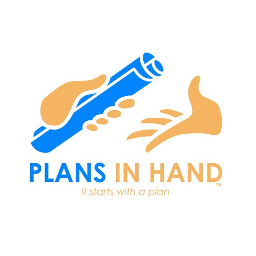 "Plan logo with the title 'Logo concept for ""PLANS IN HAND""'"