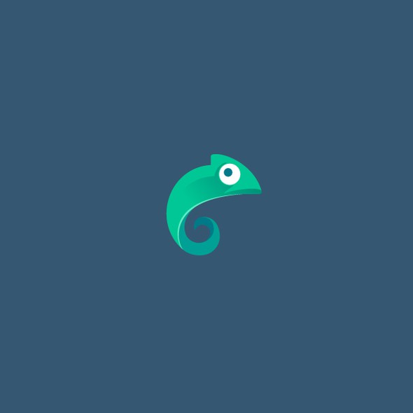 Lizard design with the title 'Simple Chameleon Logo'