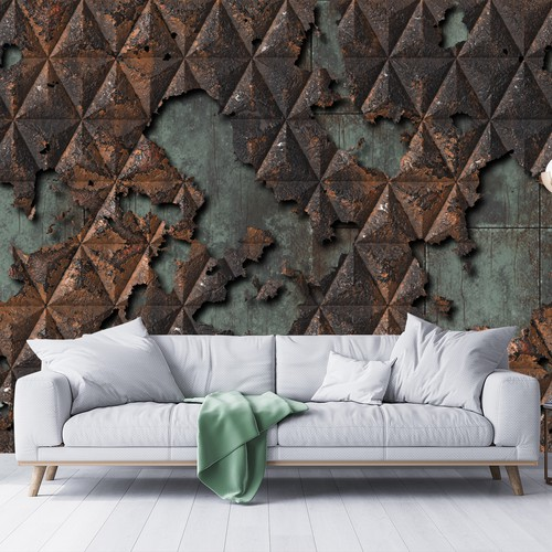 Texture artwork with the title 'Industrial Wallpaper Design'