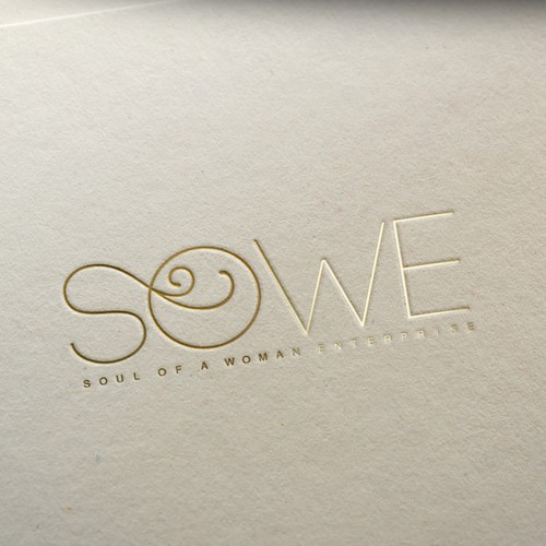 Swirl design with the title 'Sowe logo design'