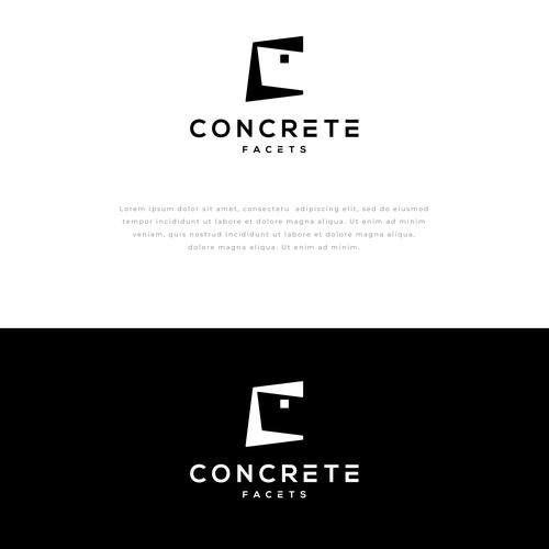 Concrete design with the title 'Concrete Facets'