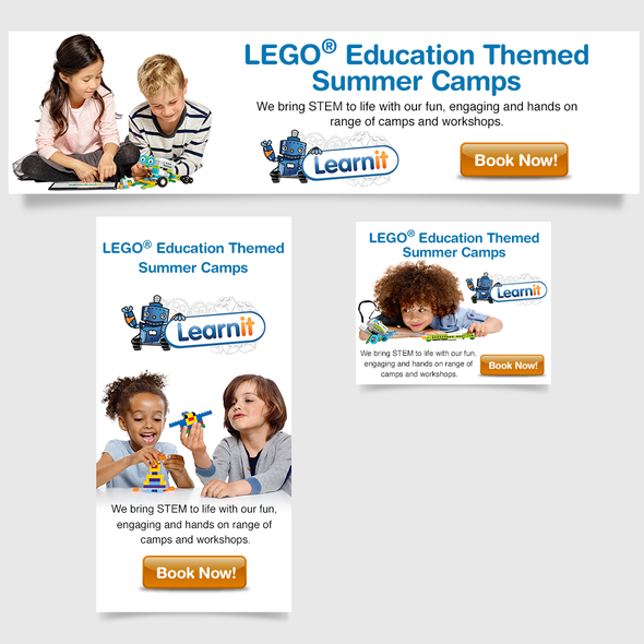 Google Ads design with the title 'LearnIt - LEGO Educational '