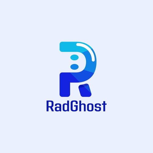 Plastic logo with the title 'Logo Design: rad gohst'