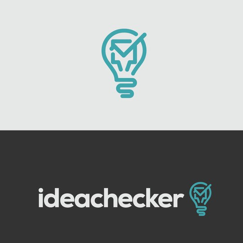 Nice logo with the title 'Create an awesome logo for ideachecker'