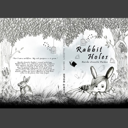 Whimsical book cover with the title 'Whimsical Illustrated Book Cover '