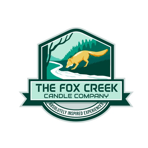 Creek design with the title 'Fox Creek Candle Company'