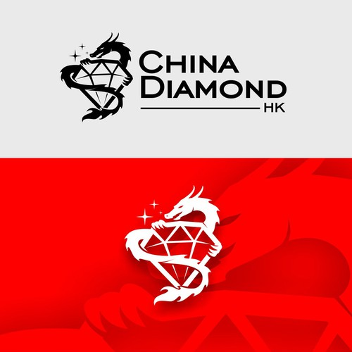Jewel design with the title 'china diamond'