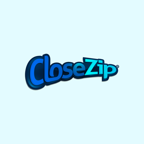 Cleaning and maintenance logo with the title 'Wordmark for CloseZip'
