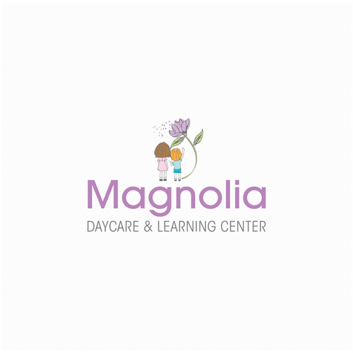 Learning center logo with the title 'Magnolia Day Care & Leaning Centre '