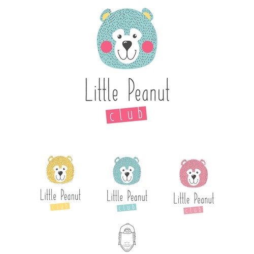 Daycare logo with the title 'Little Peanut Club'
