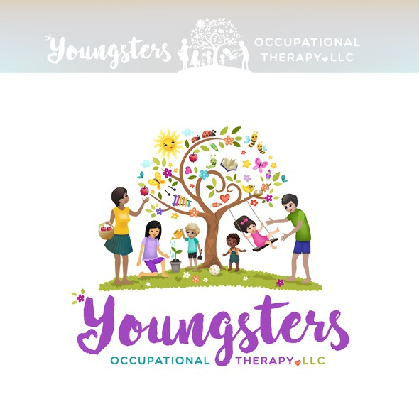 Preschool logo with the title 'Occupational Therapy Logo design'