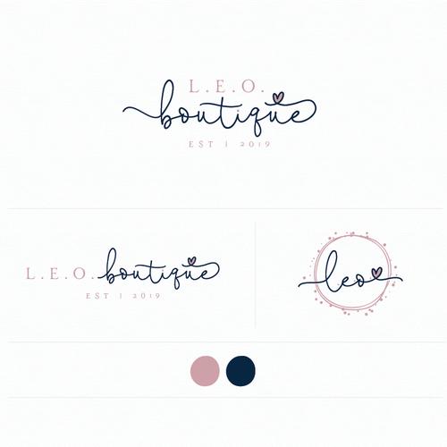 Boutique logo with the title 'Logo for L.E.O. boutique'