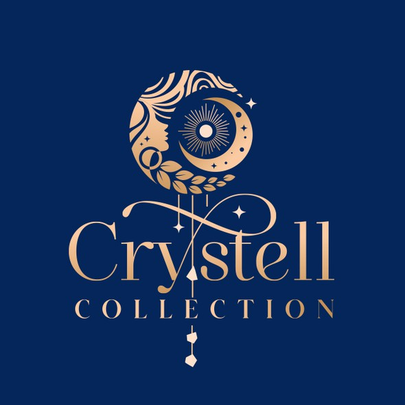 Cosmic design with the title 'Crystell Collection Logo'