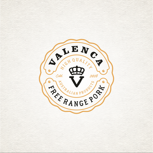 Butcher design with the title 'vintage logo for company is a manufacturer of meat'