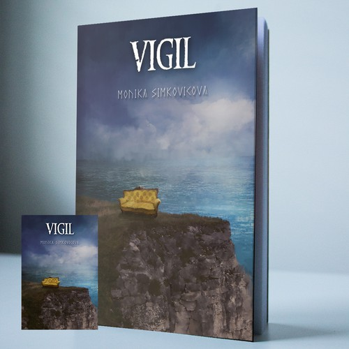 Surreal book cover with the title 'Vigil...'