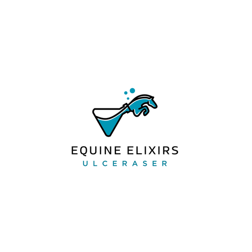 Performance design with the title 'Whimsical logo for horse supplement: Equine Elixirs'