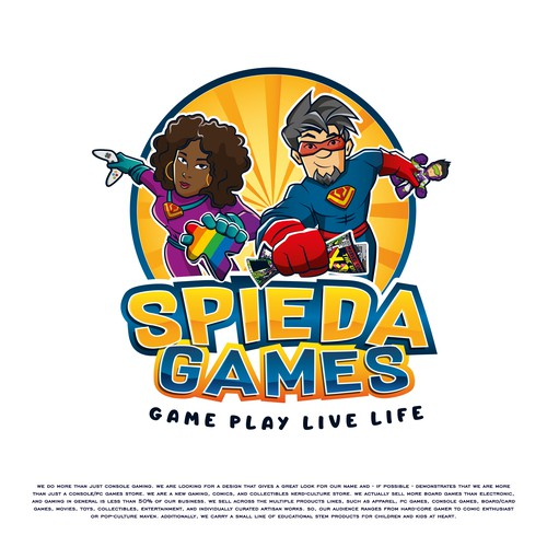 Play brand with the title 'Spieda Games'