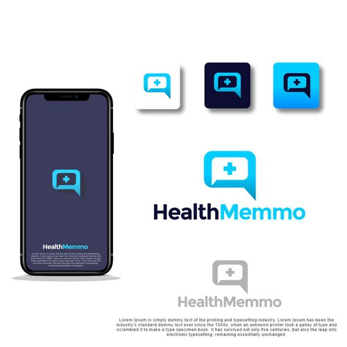 Hospital brand with the title 'Bold Logo for Medical Communication App'