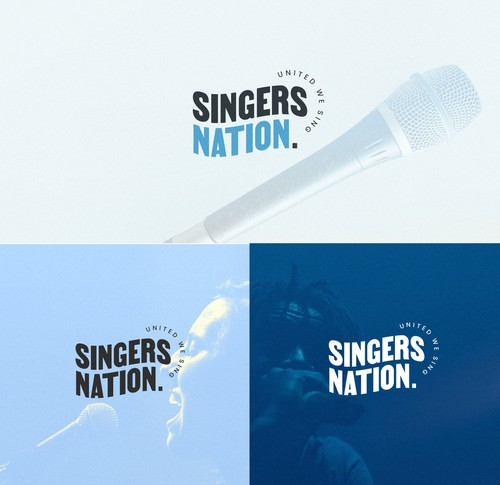 Nation logo with the title 'A youthful, modern and playful logo design for Singers Nation'