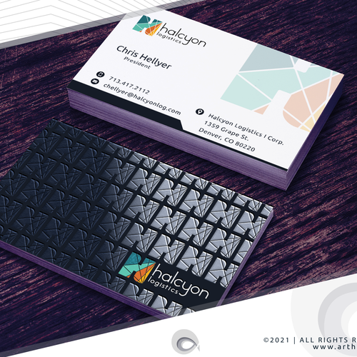Embossed design with the title 'Cool Logo and Business Cards for Logistics/Delivery CO'