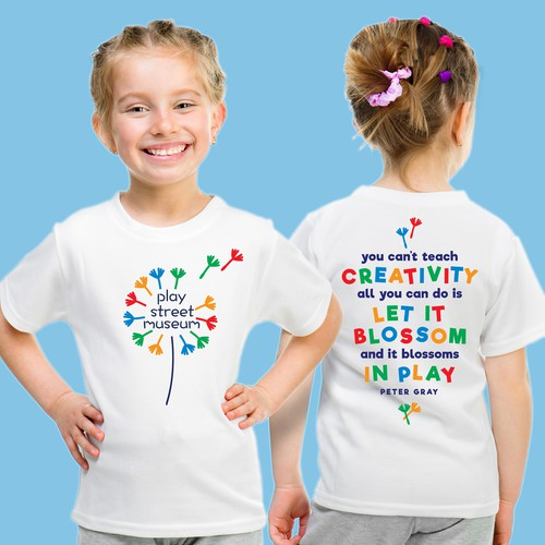 Kids' t-shirt with the title 'Play Street Museum'